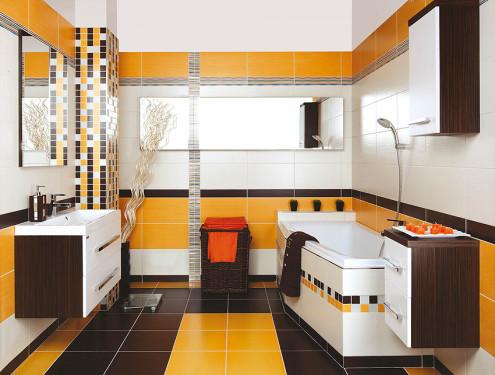 Rozličné velikosti a barvy obkladů a dlažeb, zdroj: siko-koupelny.cz