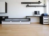 Obývací stěna kombinovaná s PC stolkem, zdroj: shutterstock.com