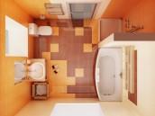 Ukázka rozložení malé koupelny, zdroj: shutterstock.com