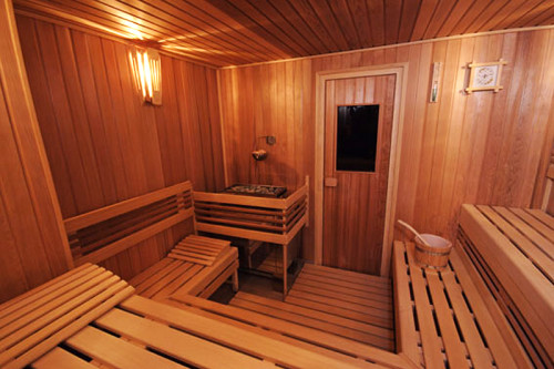 Detail finské sauny, zdroj: saunasystem.cz